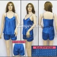 Jual Murah Baju Tidur Wanita Stelan Atasan & Celana Hot Pants