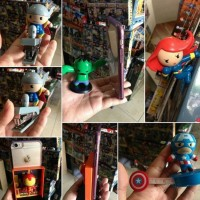 ACTION FIGURE CHIBI KIDSLOGIC THOR, IRONMAN , CAPTAIN AMERICA SET 5