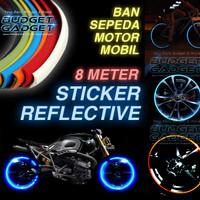 Stiker Reflective Ban Mobil 8m