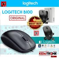 Jual Mouse Logitech B100 ORIGINAL KABEL OPTIK Murah