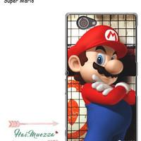 custom case sony xperia z1 compact / mini super mario