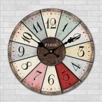 Jual Monkizz Vivian Wooden Wall Clock Jam Dinding Paris unik lucu murah new Murah
