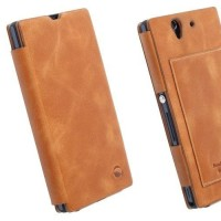 Flip Cover Leather Case Syntetic Book Cover Casing for Sony Xperia Z