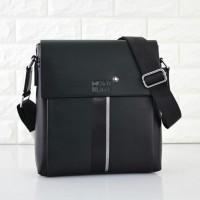 Tas Mont Blanc Selempang Leather HITAM Semi Premium 23168