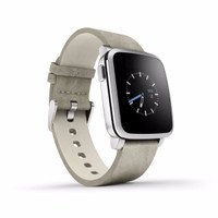 Pebble Time Steel Smartwatch - White DISKON