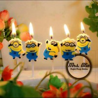 Lilin Kue Minions / Lilin Ulang Tahun Minions / Lilin Karakter