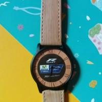Jam tangan couple fossil kulit motif kayu custom bisa pakai nama