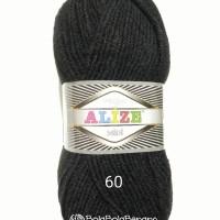 Benang Rajut Import Alize Superlana Midi 60 black