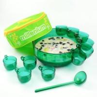 Millenium Cocktail Bowl (HIJAU) / wadah saji mangkok gelas cangkir set