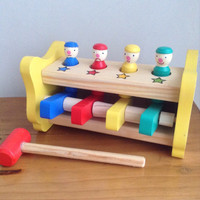 Mainan Kayu Edukasi / Edukatif - Palu Badut