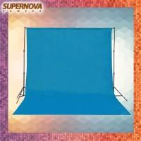 Background Polos Studio Foto - 3x6 Meter - Non Woofen - Biru Muda