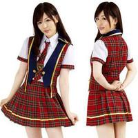 PROMO Kostum AKB48 Iiwake Maybe Dasi Rompi Rok Skirt Vest Tartan Costu