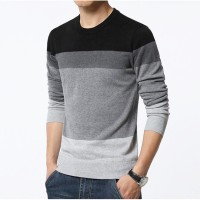 Jual Sweater Rajut O-Neck / Mens Casual Style / Striped Murah
