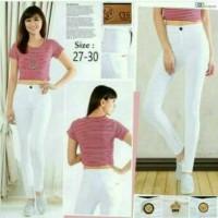 Jeans Wanita Highwaist White
