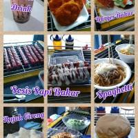 Aneka Cemilan Serba Ceban (Sosis Bakar, Burger, Cireng, Spaghetti,Dll)