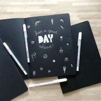 Black Paper Plain Notebook / Buku Catatan Kertas Hitam