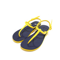 Sandal Fipper Strappy Female Navy Yellow