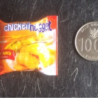 Miniature Magnet Kulkas So Good Chicken Nugget Hot & Spicy