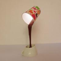 Jual Lampu Hias Cangkir Kopi Melayang Lampu LED Emergency Desk Lamp Unik Murah