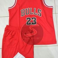 Setelan Jersey Baju Basket NBA Anak Impor - Chicago Bulls #23 JORDAN
