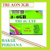 harga Kartu Perdana Internet Tri/three Aon 3 Gb 4g Lte ( 3+6 4g) Tokopedia.com