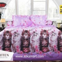 Bedcover My Love + Sprei Rumbai Ukuran King 180x200 cm