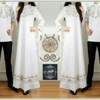 Baju muslim couple gamis syar'i embroidery