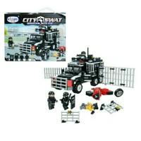 Mainan Anak Edukasi Lego Bricks Koleksi Police Truck City SWAT 452 pcs