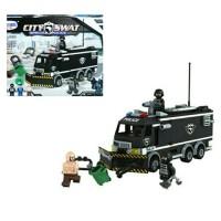 Mainan Anak Edukasi Bricks Lego Koleksi Police Van City SWAT 316 Pcs