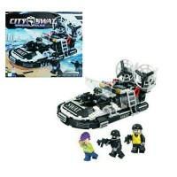 Mainan Anak Edukasi Bricks Lego Koleksi Police Boat City SWAT 282 pcs
