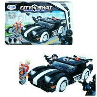 Mainan Anak Edukasi Lego Koleksi Edisi Mobile Police City SWAT