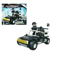 Mainan Anak Edukasi Lego Koleksi Edisi Police Jeep City SWAT