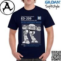 Jual Kaos Pria / Wanita Original Gildan - Robocop ED-209 Murah