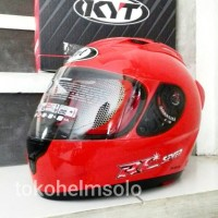 Helm KYT RC7 Solid Fire Red - RC Seven Polos Merah