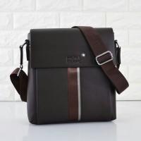 Tas Mont Blanc Selempang Leather COKLAT TUA Semi Premium 23168