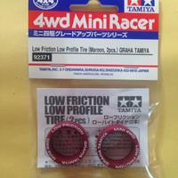TAMIYA Low Friction Low Profile Tire (Maroon,2pcs) GRAHA TAMIYA *92371