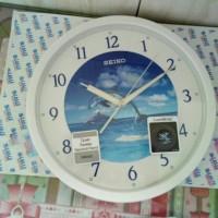 Seiko Wall Clock QXA595W Lumibrite Dolphin Dial / Jam Dinding QXA595