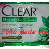 Shampo Clear Ice Cool Menthol Sachet 10ml (2)