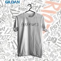 Paramore Logo Kaos Band Printed In Gildan