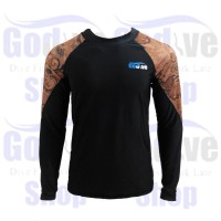 HOT SALE Alat Selam Godive Long Sleeve Rash Guard SL-014