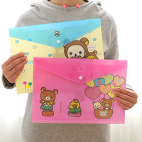 RILAKKUMA / Map A4 / Stationery / Document Organizer / Lucu