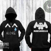 Zipper Marshmello Alone - Hitam