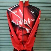 Jaket Badminton Bulutangkis Victor Jv.17 Merah/hitam