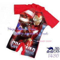 IVSC Baju Renang Anak Laki-laki Iron Man Civil War Boy Swimsuit Swim