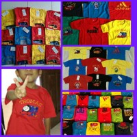 Jual Grosir Baju Anak Murah (Kaos Anak Umur 1-6 Thn) - Kaos Karakter Bordir Murah