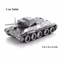 3D PUZZLE metal Tank T-34 TANK