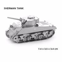 3D PUZZLE metal Tank SHERMAN TANK