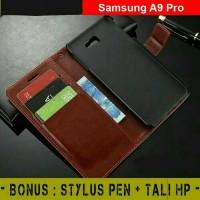 Jual Samsung Galaxy A9 pro - Flip Cover Wallet Leather Dompet Kartu magnet Murah