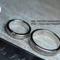 sepasang cincin nikah platinum 25%
