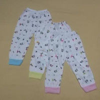 Celana Panjang Bayi New Born Buka Kaki Merk Sunjolly /3 Pcs